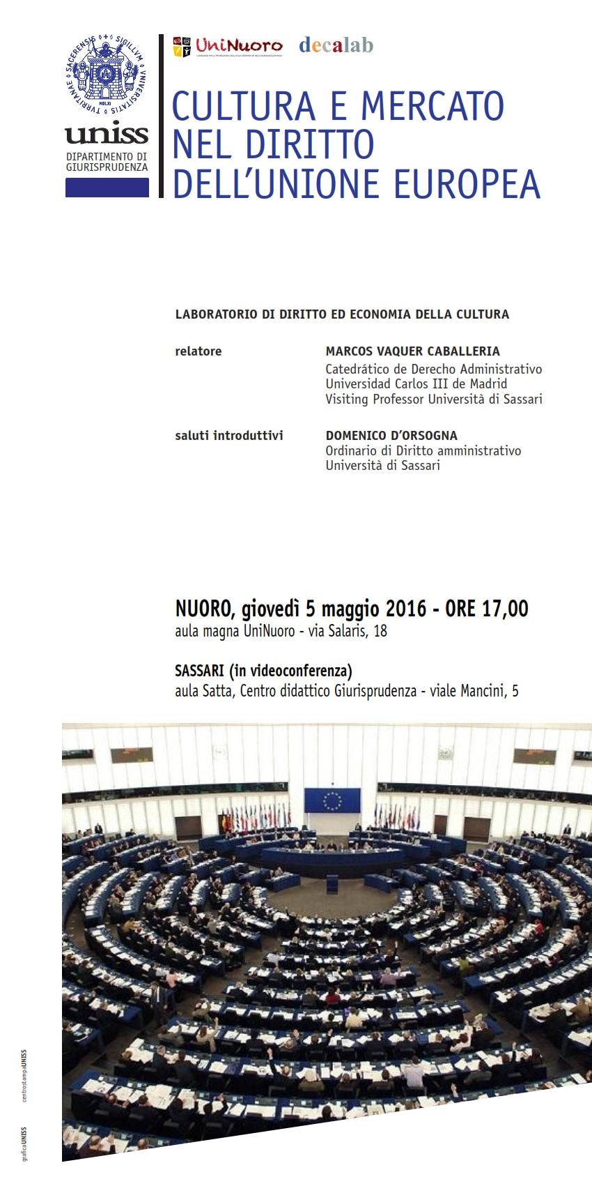 Cultura e mercato nel diritto dell'Unione Europea