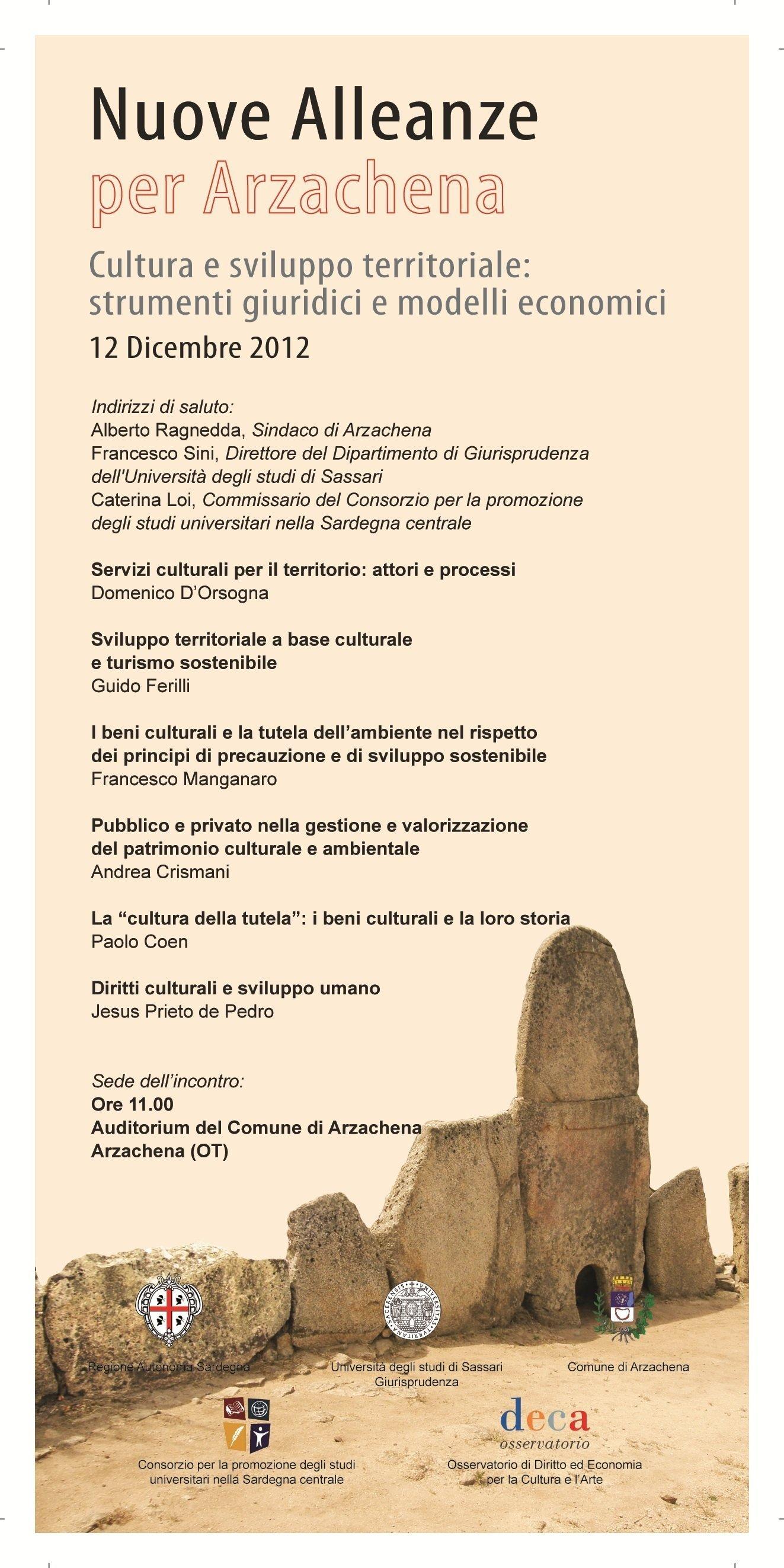 Convegno Nuove Alleanze Arzachena 2012