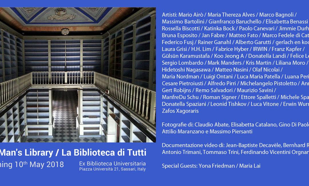 No Man's Library / La Biblioteca di Tutti, 10 maggio 2018 Ex Biblioteca universitaria di Sassari