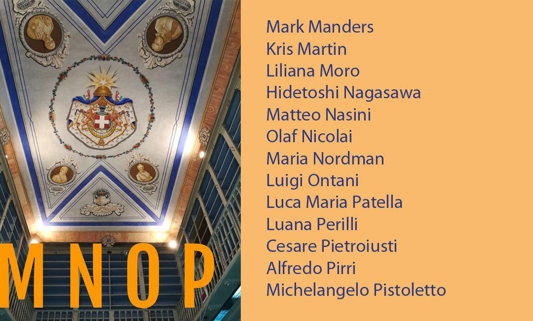 M+N+O+P: le biografie degli artisti partecipanti alla mostra No Man's Library / La Biblioteca di Tutti. Inaugurazione il 10 maggio 2018