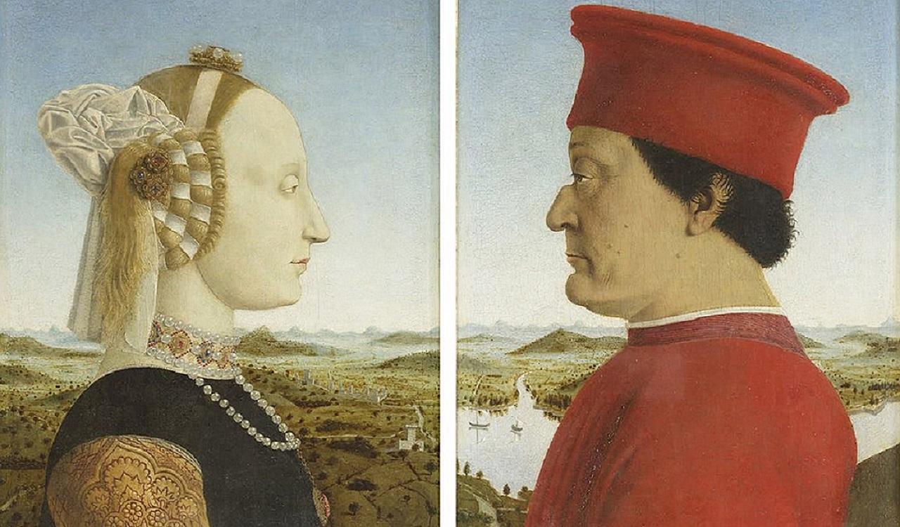 Ritratto di Battista Sforza e Federico da Montefeltro, Piero della Francesca, 1492