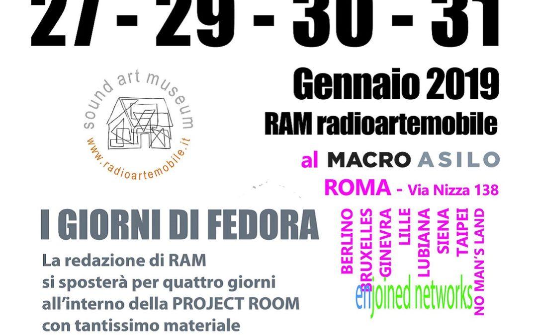 I giorni di Fedora e Presentazione del libro No Man's Library | 27, 29, 30 e 31 gennaio 2019 al MACRO di Roma