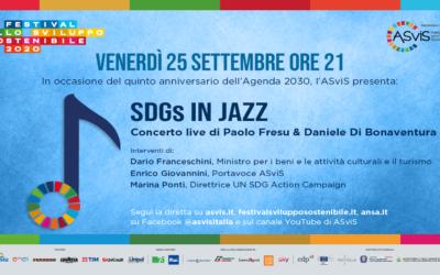 """""""SDGs in Jazz"""", concerto di Paolo Fresu e Daniele Di Bonaventura per il V anniversario dell'Agenda 2030 dell'Onu. Venerdì 25 settembre, ore 21:00"""